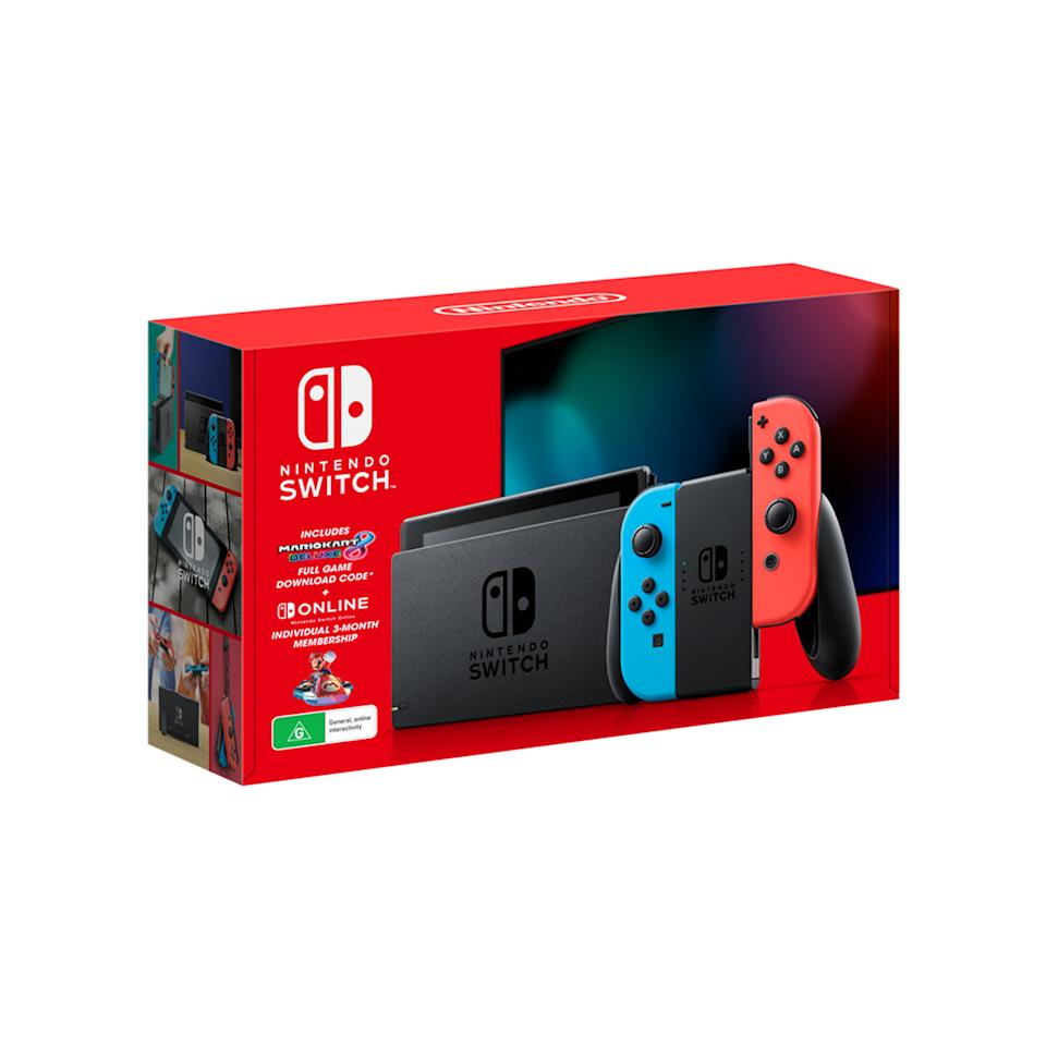 Nintendo Switch Console Mario Kart 8 Deluxe - Neon in packaging