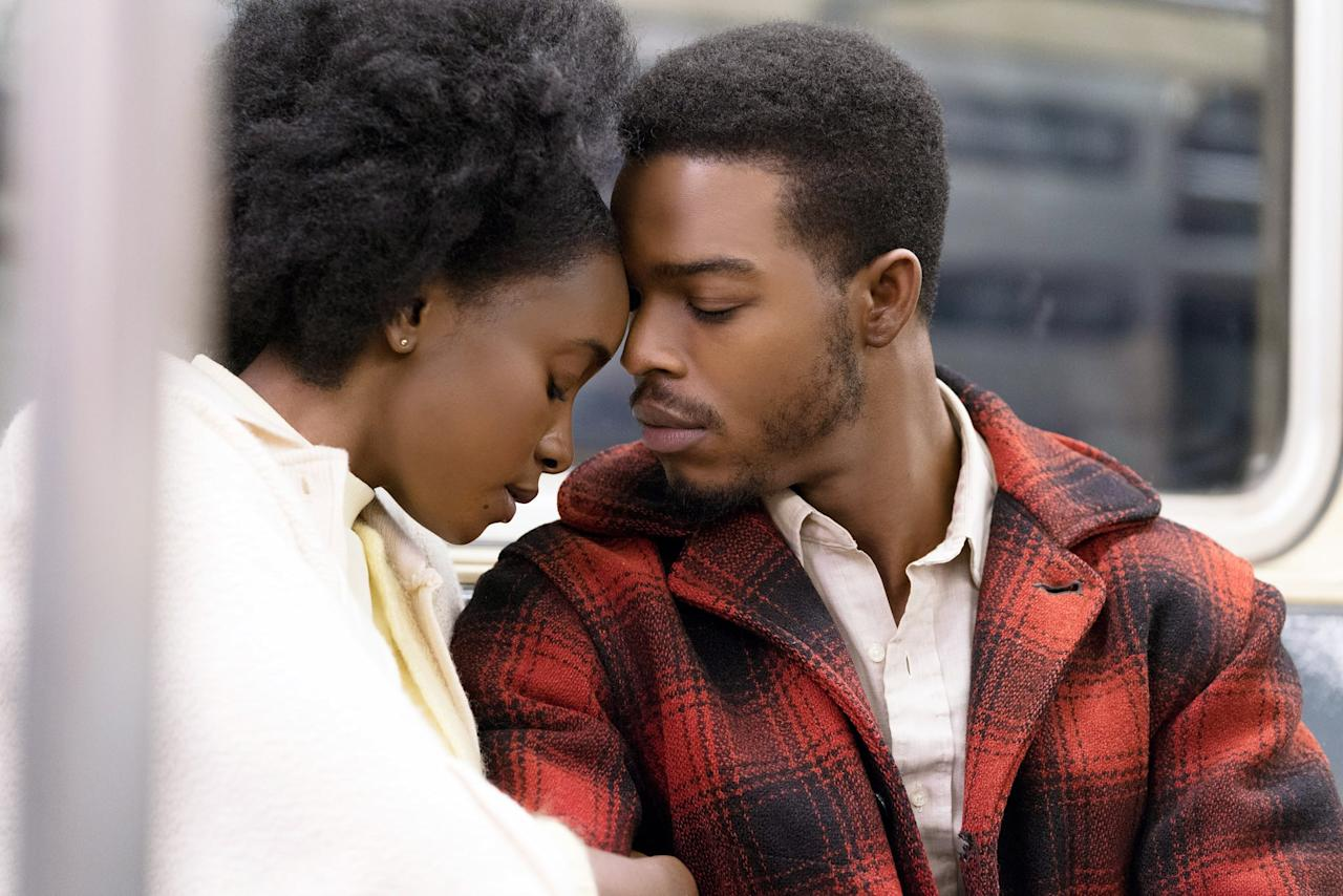 "<p>Set in 1970s Harlem, wife-to-be Tish recounts the passion and trust that has cemented her relationship with her artist fiancé, Alonzo ""Fonny"" Hunt. Although the devoted couple has a promising dream of a future together, their plans are destroyed when Fonny is thrown in jail for a crime he didn't commit.</p>"