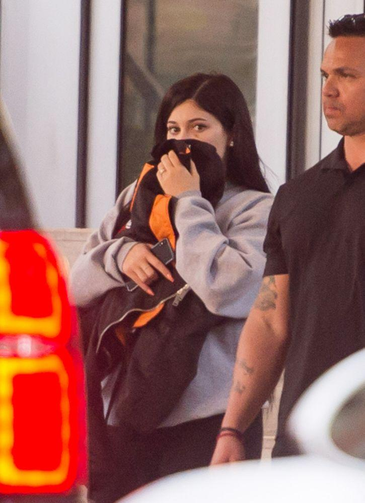 Kylie Jenner leaving her Miami Beach hotel on Sunday