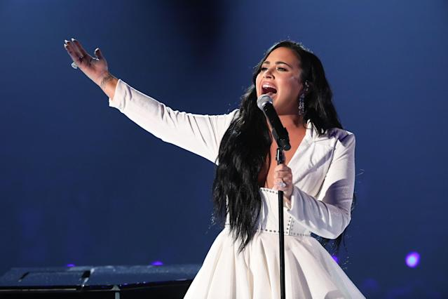 Demi Lovato performs at the Grammys in 2020 (Monty Brinton/CBS via Getty Images)
