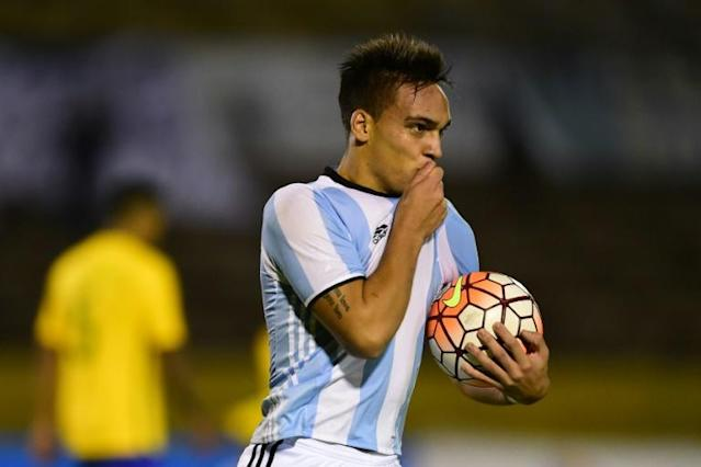 Lautaro Martinez scored five goals for Argentina in the 2017 South American U-20 Championship in Ecuador