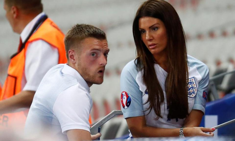 Jamie Vardy with wife, Rebekah