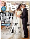 """<p>Designer Oscar de la Renta created the stunning gown that Amal wore in her <a href=""""http://www.goodhousekeeping.com/beauty/fashion/g3941/most-expensive-wedding-dresses/?slide=7"""" rel=""""nofollow noopener"""" target=""""_blank"""" data-ylk=""""slk:2014 wedding"""" class=""""link rapid-noclick-resp"""">2014 wedding</a> to the ever-handsome George Clooney. </p>"""