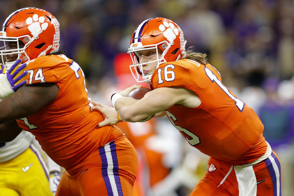 Trevor Lawrence was the consensus No. 1 pick in the draft, and he's going to a fishbowl NFL market with no other professional teams. Pressure's on. (Photo by Kevin C. Cox/Getty Images)