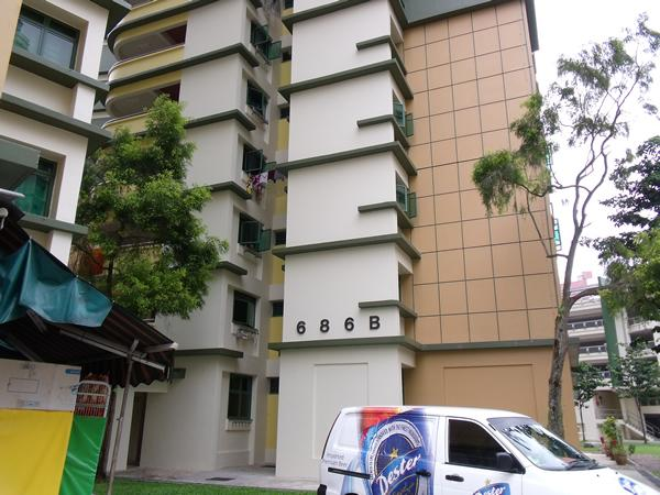 Woodlands Block 686B that got a new water tank. (Yahoo! photo/Fann Sim)