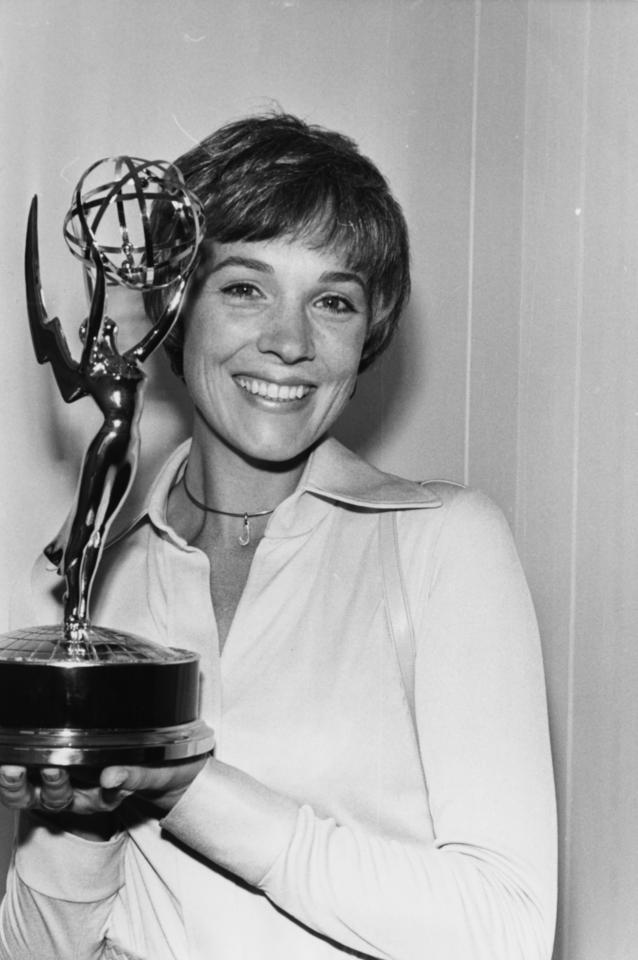 <p><b>E</b>: 2 (Outstanding Nonfiction Series - <em>Broadway: The American Musical</em>, Outstanding Variety Musical Series - <em>The Julie Andrews Hour</em>)<br /><b>G</b>: 1 (Best Recording for Children - <em>Mary Poppins</em>)<br /><b>O</b>: 1 (Best Actress in a Leading Role - <em>Mary Poppins</em>)<br /><b>T</b>: 0</p>