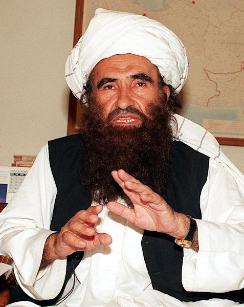 Jalaluddin Haqqani, seen here in a 1991 file picture, fostered close ties with Arab jihadists, including Osama Bin Laden, and later became a minister in the Taliban regime (AFP Photo/STR)