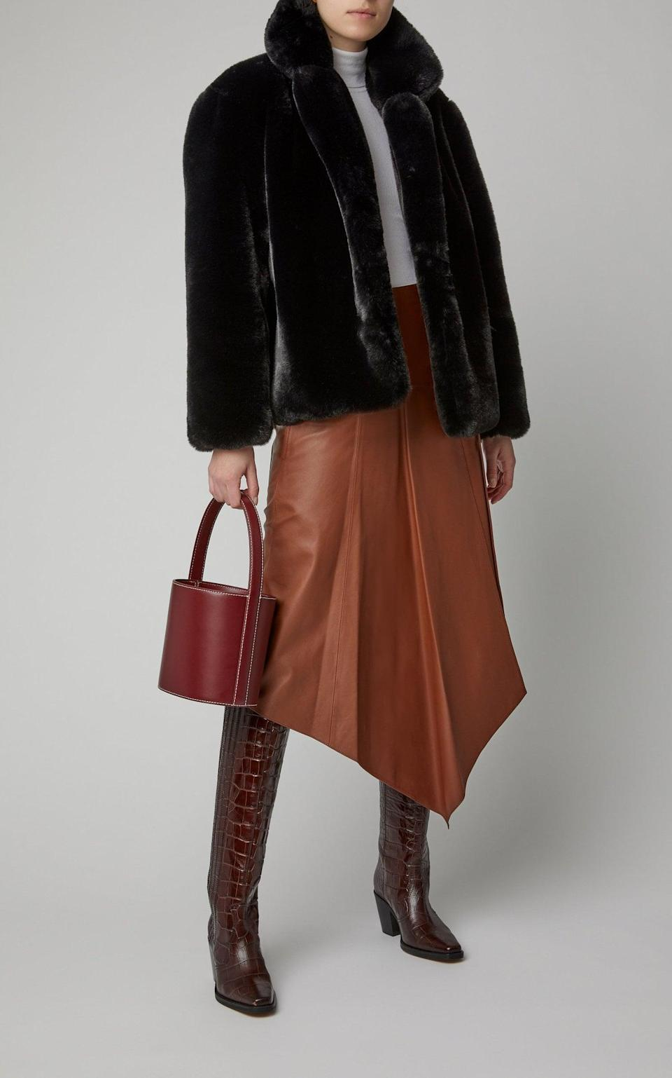 <p>We'd like to cozy up in this <span>Apparis Manon Faux-Fur Coat</span> ($325).</p>