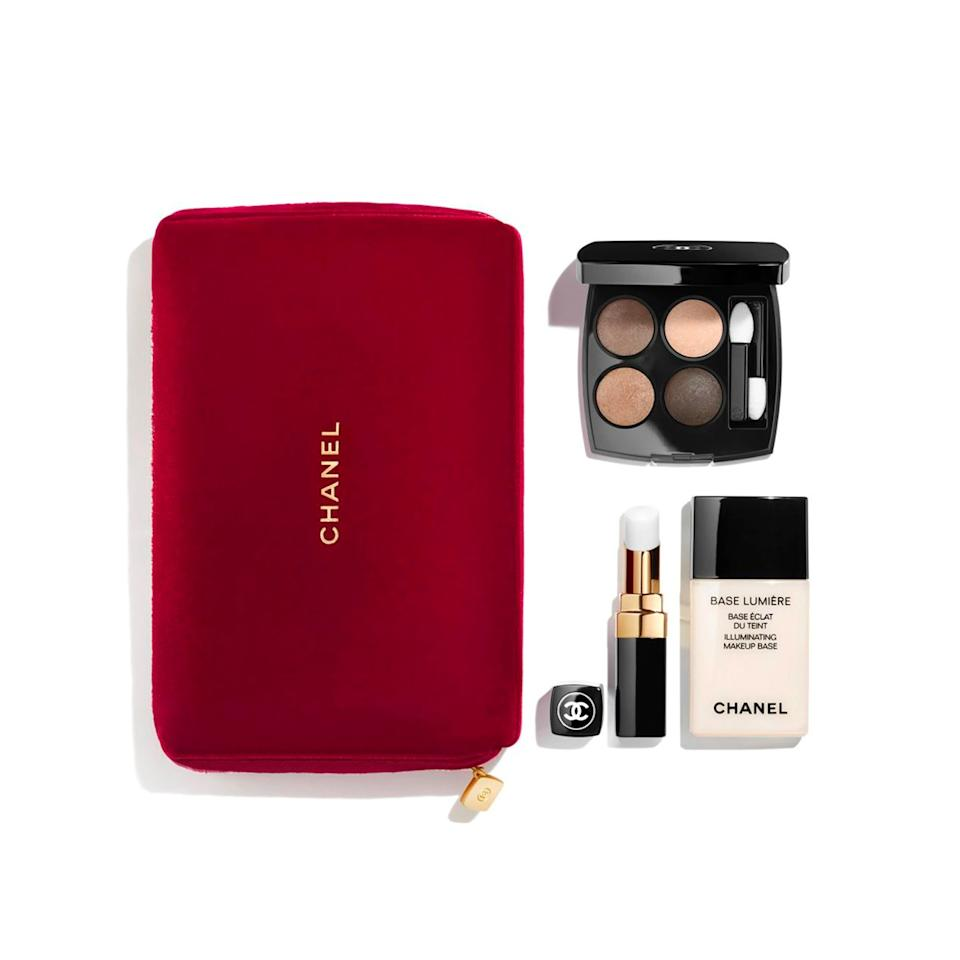 """$150, Nordstrom. <a href=""""https://shop.nordstrom.com/s/chanel-catch-the-light-makeup-set-limited-edition/5422967/"""">Get it now!</a>"""