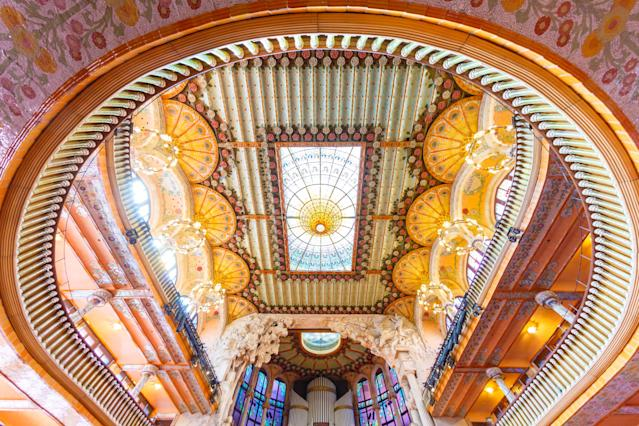 <p>The Palacio de la Musica in Barcelona. (Photo: Loic Lagard/Caters News) </p>