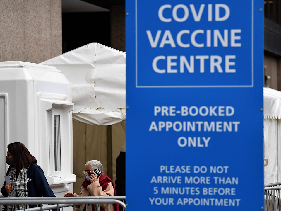 Vaccination centre in Wembley, north-west London (AFP via Getty Images)