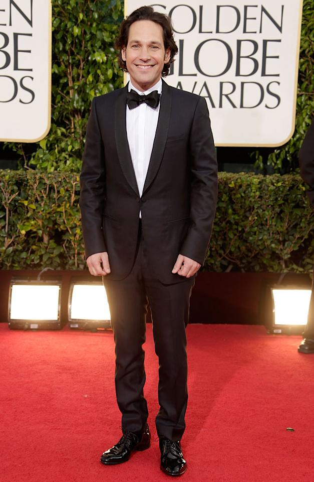 Paul Rudd arrives at the 70th Annual Golden Globe Awards at the Beverly Hilton in Beverly Hills, CA on January 13, 2013.