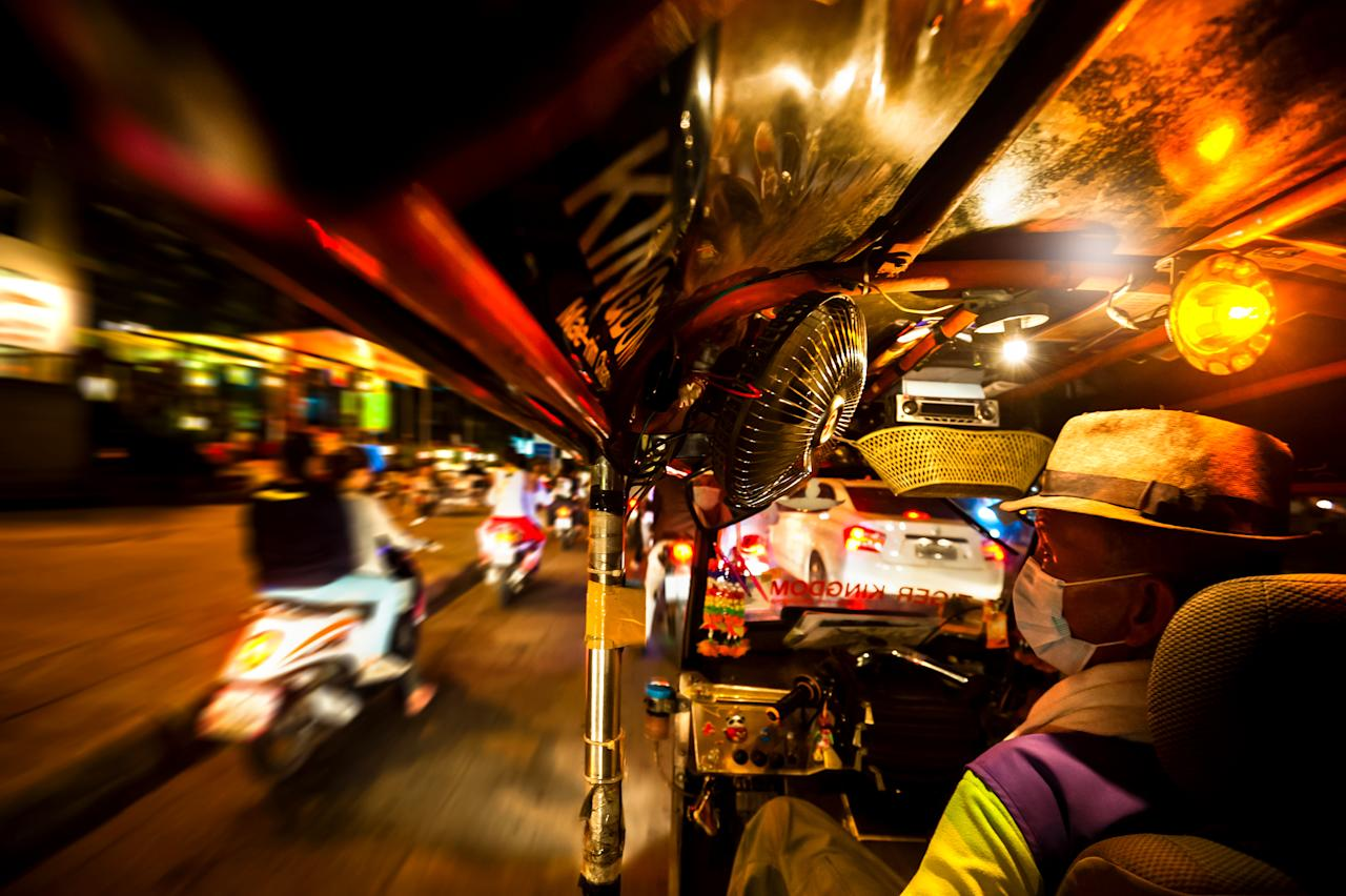 This vibrant shot from inside a tuk tuk was taken by Yen Baet and was one of the brilliant entries into the competition (Yen Baet)