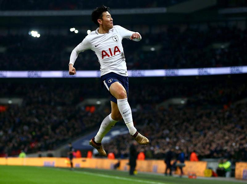 Son has now scored in five consecutive appearances at Wembley (Getty)