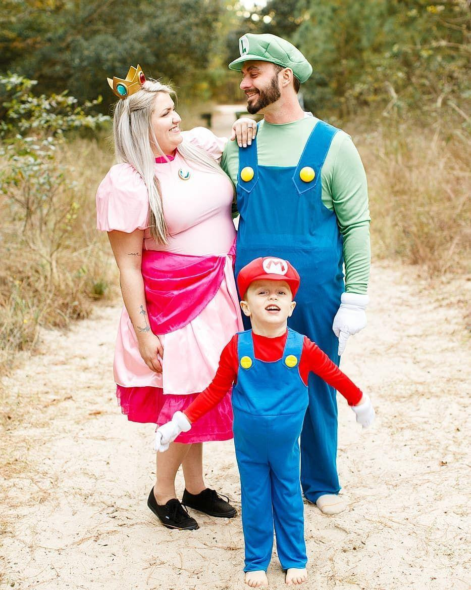 """<p><em>Here we go! </em>This Halloween, gather your party of three and dress up as three of the most recognizable video game characters: <a href=""""https://www.amazon.com/Plumber-Brother-Costume-Halloween-Medium/dp/B075FG62Q7/ref=sr_1_1_sspa?tag=syn-yahoo-20&ascsubtag=%5Bartid%7C10055.g.28073110%5Bsrc%7Cyahoo-us"""" rel=""""nofollow noopener"""" target=""""_blank"""" data-ylk=""""slk:Mario"""" class=""""link rapid-noclick-resp"""">Mario</a>, <a href=""""https://www.amazon.com/Disguise-Luigi-Deluxe-Adult-Costume/dp/B07L6BP3PG/?tag=syn-yahoo-20&ascsubtag=%5Bartid%7C10055.g.28073110%5Bsrc%7Cyahoo-us"""" rel=""""nofollow noopener"""" target=""""_blank"""" data-ylk=""""slk:Luigi"""" class=""""link rapid-noclick-resp"""">Luigi</a>, and <a href=""""https://www.amazon.com/Disguise-Womens-Nintendo-Bros-Princess-Costume/dp/B00J1O2IQ0/ref=sr_1_7?tag=syn-yahoo-20&ascsubtag=%5Bartid%7C10055.g.28073110%5Bsrc%7Cyahoo-us"""" rel=""""nofollow noopener"""" target=""""_blank"""" data-ylk=""""slk:Princess Peach"""" class=""""link rapid-noclick-resp"""">Princess Peach</a>.</p><p><em><a href=""""https://www.instagram.com/megancolemanphotography/"""" rel=""""nofollow noopener"""" target=""""_blank"""" data-ylk=""""slk:See more on Megan Coleman Photography's Instagram »"""" class=""""link rapid-noclick-resp"""">See more on Megan Coleman Photography's Instagram »</a></em></p>"""