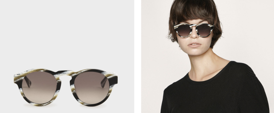 PHOTO: Charles & Keith. Striped Round Acetate Sunglasses