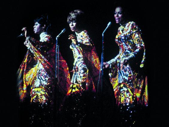 Cindy, Mary and Diana perform live in 1968 (Mary Wilson Collection)