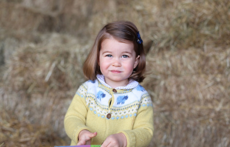 """The Duchess of Cambridge shared a photo of Charlotte taken in April to celebrate her second birthday. """"The Duke and Duchess are very pleased to share this photograph as they celebrate Princess Charlotte's second birthday,"""" the caption on the Instagram from @kensingtonroyal reads. """"Their Royal Highnesses would like to thank everyone for all of the lovely messages they have received, and hope that everyone enjoys this photograph of Princess Charlotte as much as they do."""" (Photo: @KensingtonRoyal/Instagram)"""