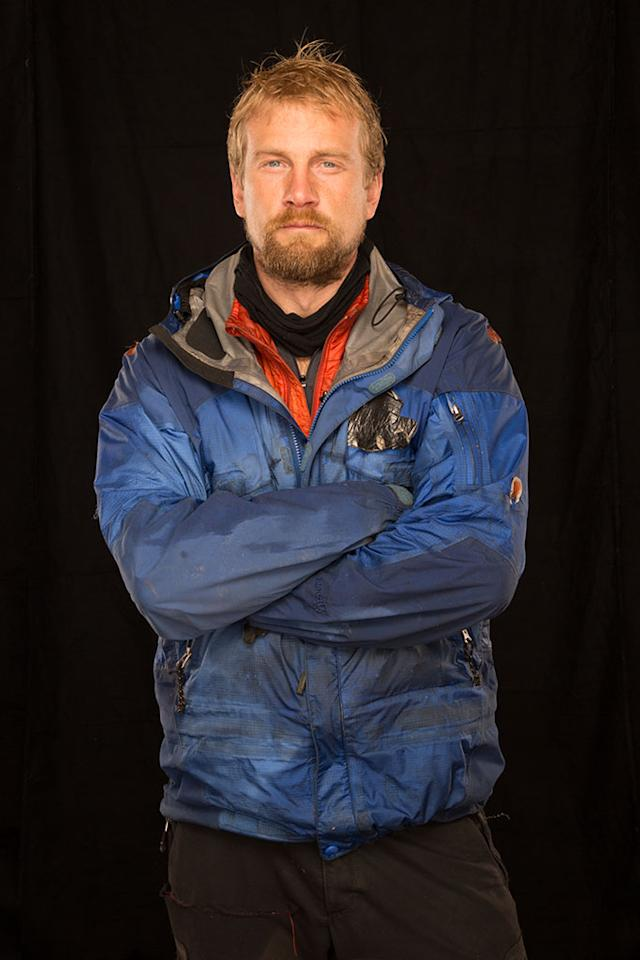 Alaska: Tyler Johnson. From exploring Kathmandu to climbing 27,000 feet with no oxygen in Nepal, Tyler is fearless. (Photo Credit: National Geographic Channels/ Stewart Volland)