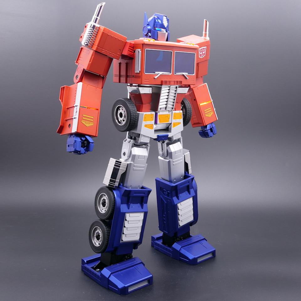 Check out Hasbro's interactive Optimus Prime Auto-Converting Programmable Advanced Robot. (Photo: Hasbro)