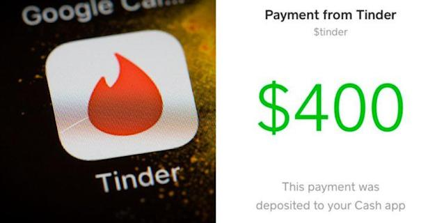 Erin Kim penned a thank you letter to Tinder, and the app thanked her with $400.(Photos: Getty Images,Twitter/Agnesonduty)