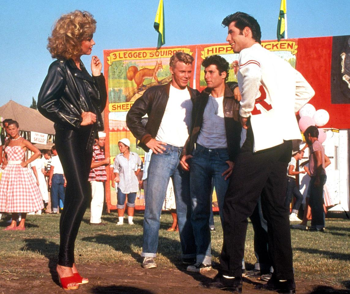 "Though it hasn't sold just yet, Julien's Auctions predicts the leather jacket and pants that Newton-John wore during the <em>Grease</em> finale could <a href=""https://people.com/style/olivia-newton-john-grease-outfit-auction/"">go for anywhere between $100,000 and $200,000</a>. The actress is <a href=""https://www.juliensauctions.com/exhibition-press-release?id=294"">auctioning off the edgy outfit</a> — along with other movie memorabilia like the film's original script and her Pink Ladies jacket — in the name of charity. 100 percent of proceeds will be donated to the <a href=""https://www.onjcancercentre.org/"">Olivia Newton-John Cancer Wellness and Research Center</a> in Melbourne, Australia."