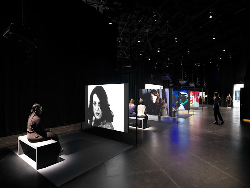 Lynne Hershman Leeson, The Electronic Diaries (1984-2019), 2019. Installation view: Manual Override, The Shed, New York.