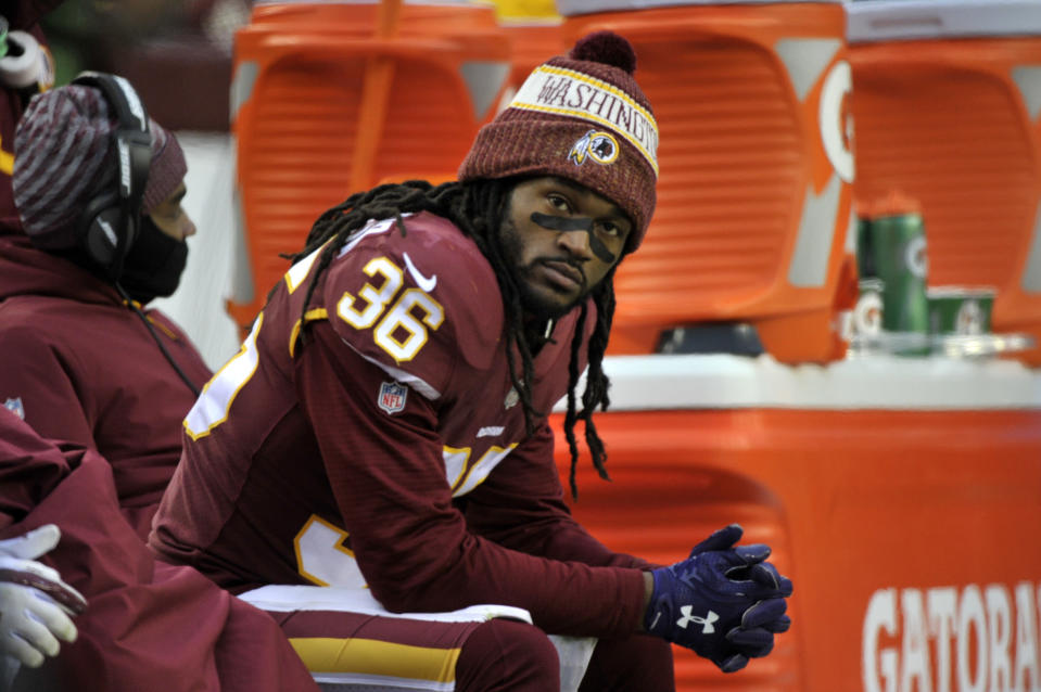 Free safety D.J. Swearinger was abruptly cut by the Washington Redskins on Monday, two days after he lashed out against the team's defensive coordinator, Greg Manusky. (AP)
