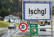 The Tyrolean ski resort of Ischgl was the site of a notorious outbreak of coronavirus in March 2020 (AFP/JOE KLAMAR)