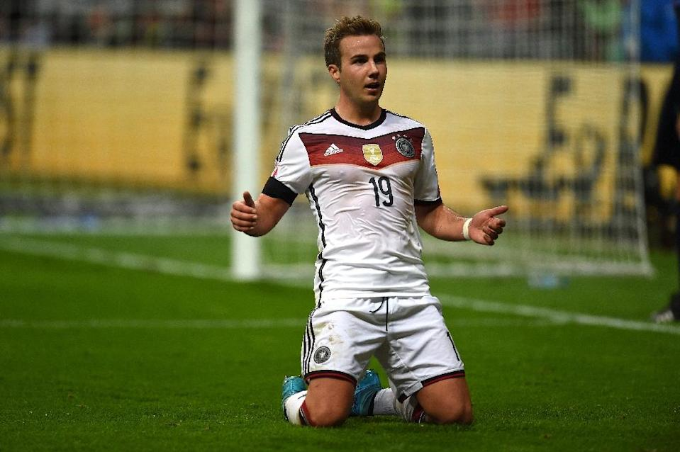 Mario Goetze is expected to return on Wednesday after Bayern's 23-year-old Germany international forward missed the Augsburg win with a leg injury (AFP Photo/Patrik Stollarz)