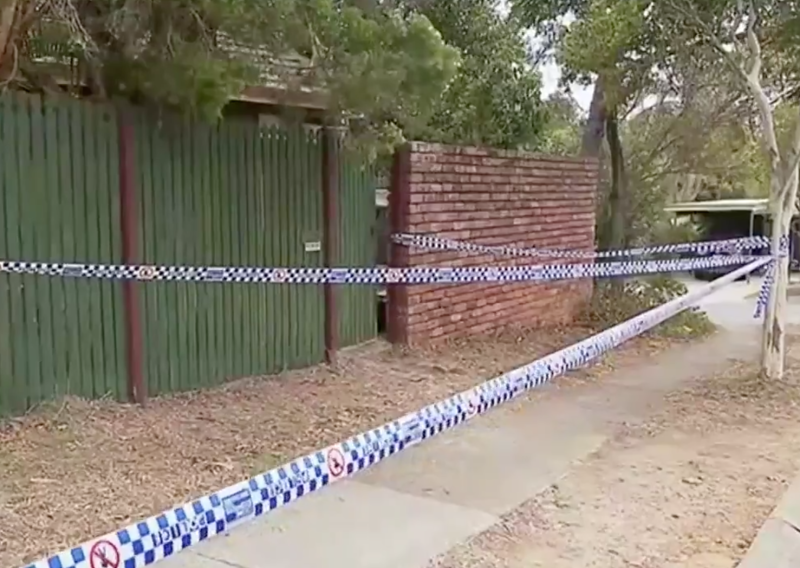 An image of the front of the Brisbane home where twin baby girls died after a sleeping accident.