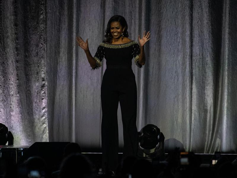 Michelle Obama wears custom Stella McCartney jumpsuit for London leg of Becoming book tour