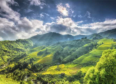 <p>This stunning mountain town sits just below the Chinese border. And the view? Those are the vertical rice terraces of the Muong Hoa Valley.</p>