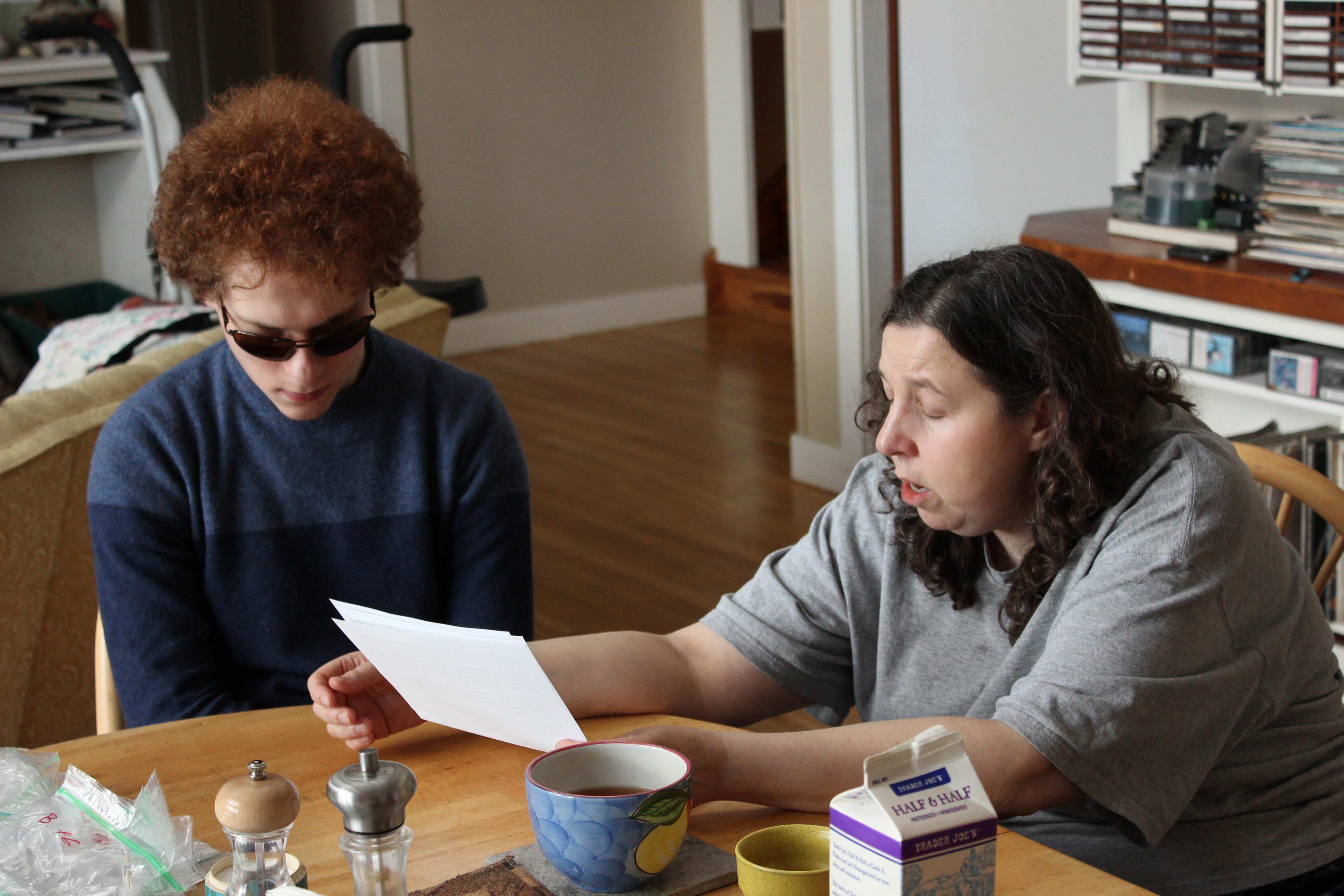 Shifrin's family friend, Lilya Finkel, surprised him for his 13th birthday with braille LEGO building instructions. (Courtesy: Matthew Shifrin)