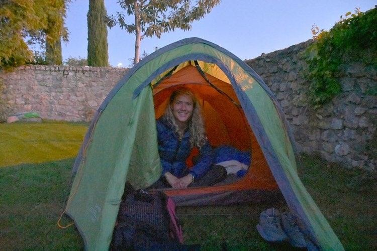 <p>It proves to be the perfect campsite</p>Sadie Whitelocks
