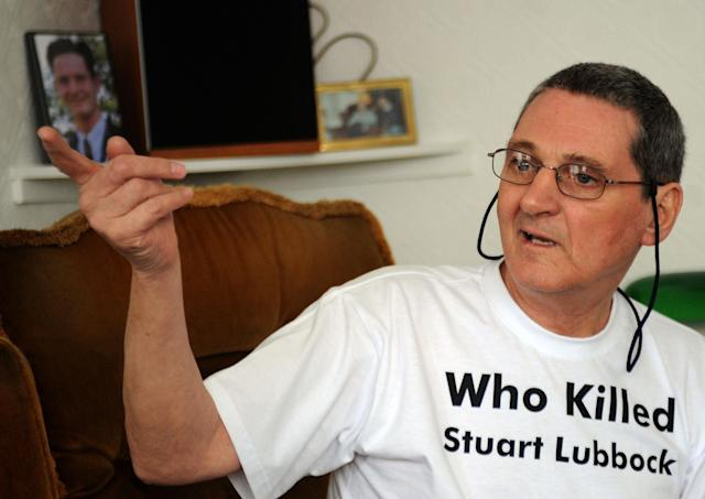 Terry Lubbock has campaigned for justice over the death of his son Stuart. (PA)