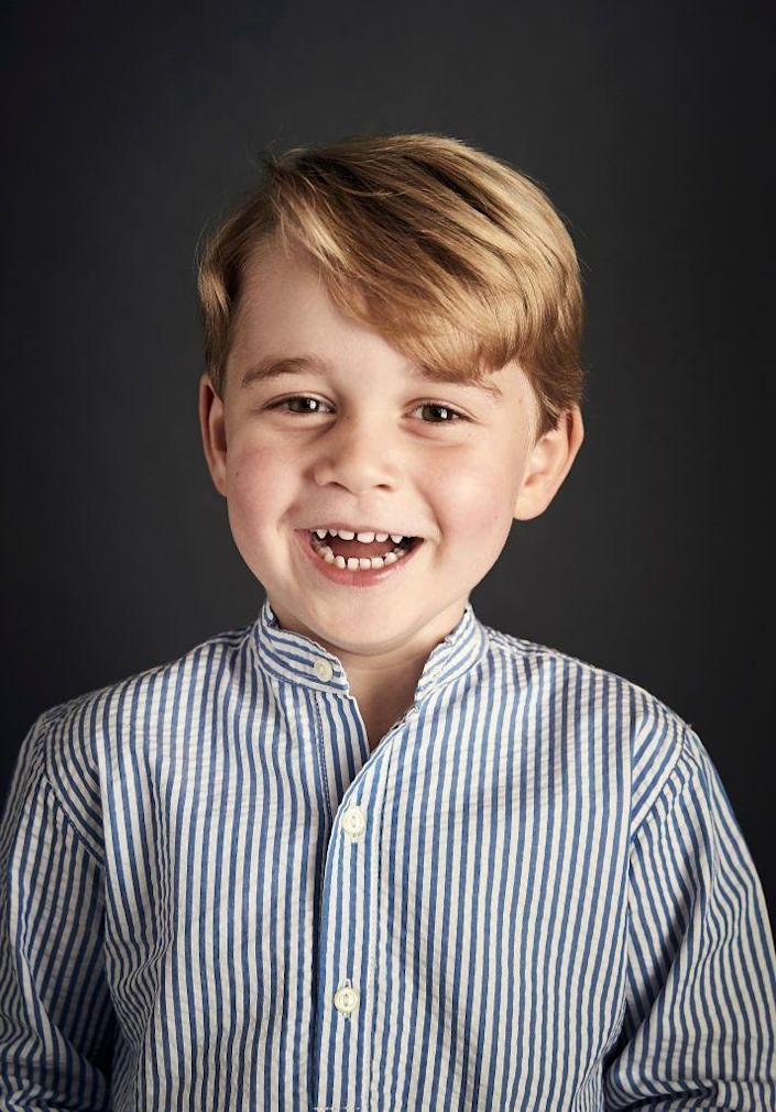 <p>In honor of Prince George's fourth birthday, Kensington Palace released this smiley new portrait of the future King of England.</p>
