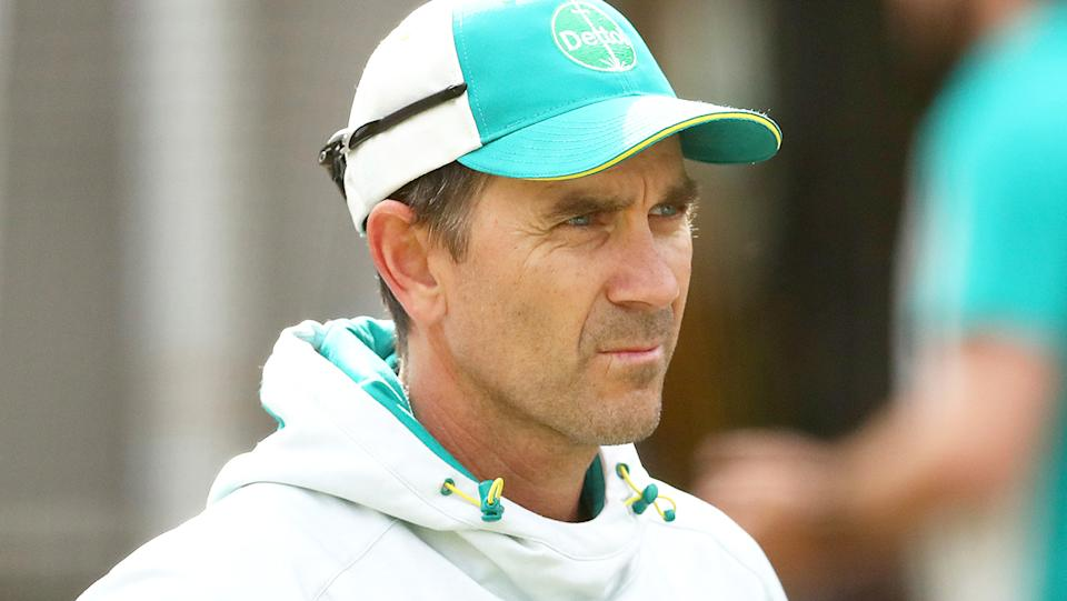 Australian men's cricket coach Justin Langer was reportedly furious after substitute fielder Nathan Ellis wore a watch onto the field earlier this year. (Photo by Kelly Defina/Getty Images)