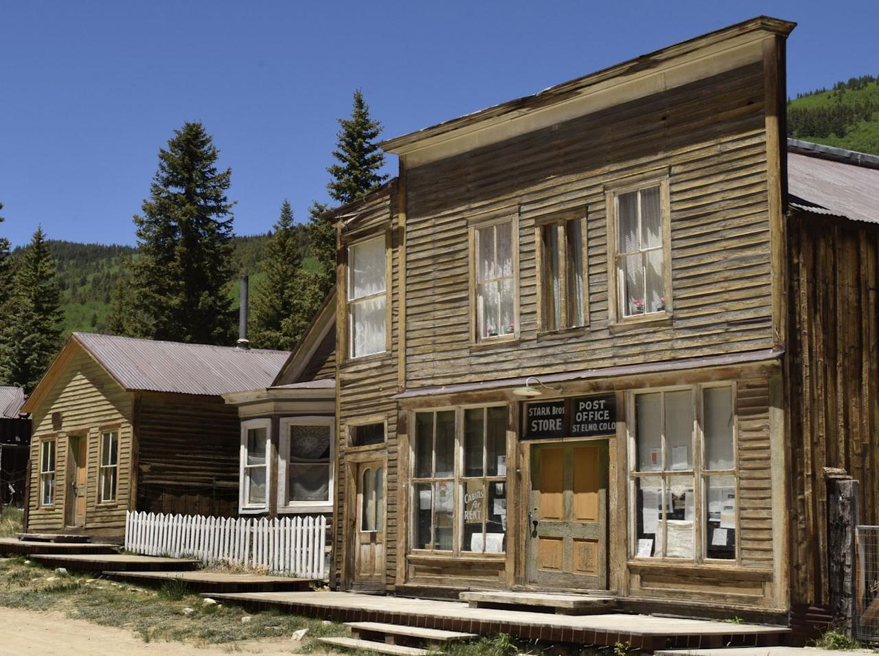 "<p>If you're looking for paranormal activity, this boasts the most of any ghost town in the state of Colorado. The gold and silver mining town was founded in 1880 and was abandoned when the mining industry began to decline in 1922. </p><p><a rel=""nofollow"" href=""https://www.tripadvisor.com/Hotel_Review-g33562-d123375-Reviews-Mount_Princeton_Hot_Springs_Resort-Nathrop_Colorado.html"">BOOK NOW</a> <em><strong>Mount Princeton Hot Springs Resort</strong></em></p>"