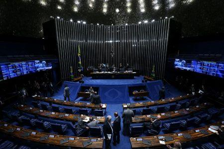 General view of Brazil's Senate during a session of voting on a constitutional amendment, known as PEC 55, that limits public spending, in Brasilia