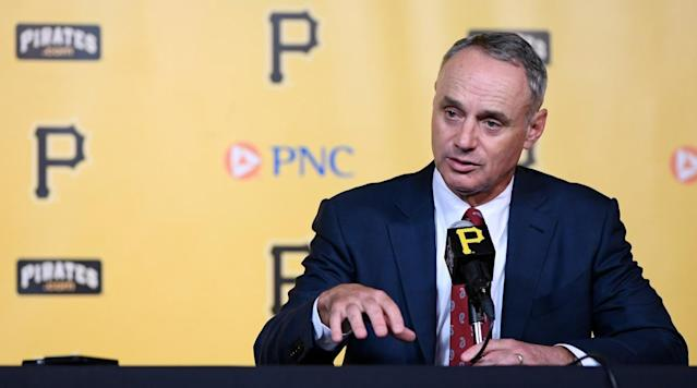"<p>MLB Commissioner Rob Manfred complained to the management of ESPN after his interview with Dan Le Batard concerning the sale of the Miami Marlins, <a href=""http://thebiglead.com/2017/12/22/mlb-rob-manfred-complained-espn-dan-le-batard-interview-marlins-derek-jeter-giancarlo-stanton/"" rel=""nofollow noopener"" target=""_blank"" data-ylk=""slk:reports"" class=""link rapid-noclick-resp"">reports</a> the Big Lead. </p><p>During an interview on the Dan Le Batard Show with Stugotz on Wednesday, Le Batard grilled Manfred from the start of the interview, questioning the Marlins plans with their team, including trading multiple players to cut payroll.</p><p>""South Florida is really mad,"" Le Batard told Manfred at the beginning of the interview, ""baseball has been really bad to South Florida for many years, and I don't believe that baseball deserves a single customer in South Florida.""</p><p>The interview remained testy when Manfred took exception to the way he was being questioned.</p><p>""I'm not gonna be deposed like this is some adversary thing. You wanna ask me some questions, I'll answer them the way I want to answer them. If that's not enough, we can move on,"" Manfred said.</p><p>ESPN confirmed with The Big Lead that they had a discussion with MLB concerning the interview, saying, ""We have a terrific relationship with Major League Baseball and we're in constant communication at all levels, so it's not uncommon that we would discuss both issues and opportunities in the course of that communication.""</p><p>The Marlins agreed to be sold in August for $1.2 billion to a group that included former New York Yankees shortstop Derek Jeter and businessman Bruce Sherman.</p><p>After the season, the Marlins traded National League Most Valuable Player Giancarlo Stanton to the Yankees and also shipped Marcell Ozuna to the St. Louis Cardinals and second baseman Dee Gordon was dealt to the Seattle Mariners.</p>"