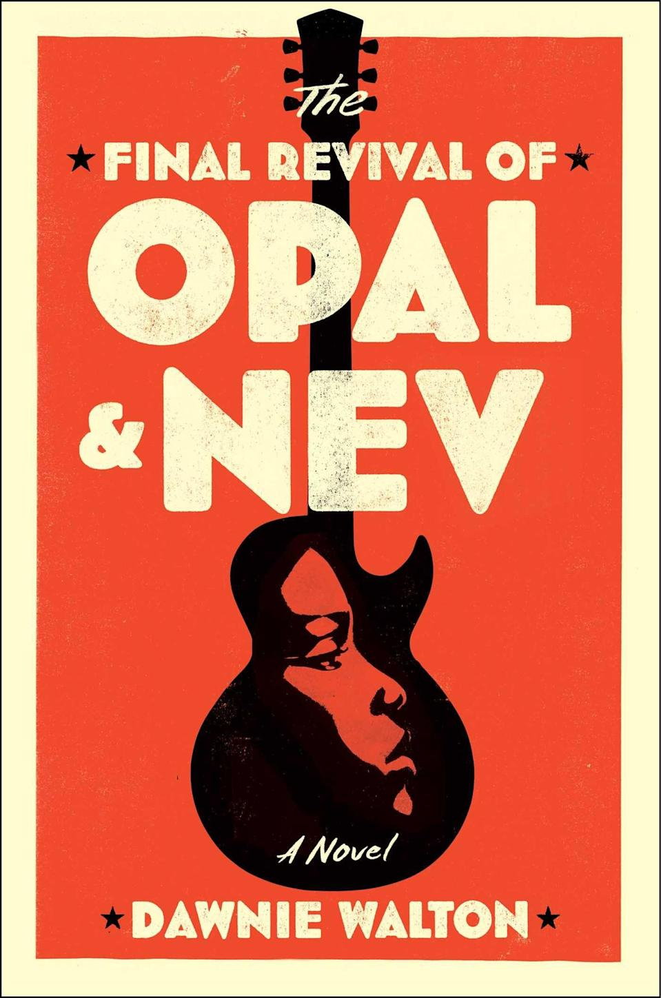 <p>Dawnie Walton's <span><strong>The Final Revival of Opal & Nev</strong></span> tells the story of a fictional rock-and-roll duo who rise to fame in the '70s. However, when a rival band uses a Confederate flag to promote their music, Opal's protest costs her her career. Decades later, journalist S. Sunny Shelton sets out to chronicle the duo's rise and fall, and their potential reunion, but when disturbing allegations come to light, she realizes there is more to Opal's story than anyone knows. </p> <p><em>Out April 20</em></p>