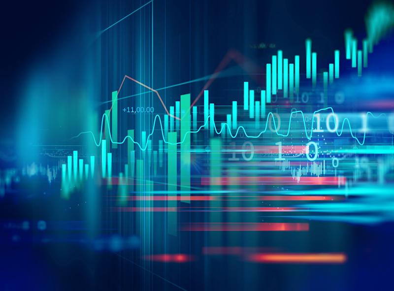financial stock market graph illustration ,concept of business investment and stock future trading. (Photo: monsitj via Getty Images)