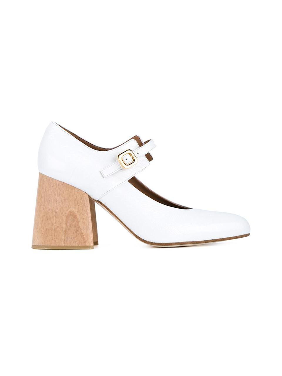 "<p>Patent leather Mary Janes with wooden block heel, $595, <a href=""http://www.brownsfashion.com/product/LS7G52870002/134/patent-leather-mary-janes-with-wooden-block-heel"" rel=""nofollow noopener"" target=""_blank"" data-ylk=""slk:Brownsfashion.com"" class=""link rapid-noclick-resp"">Brownsfashion.com</a></p>"