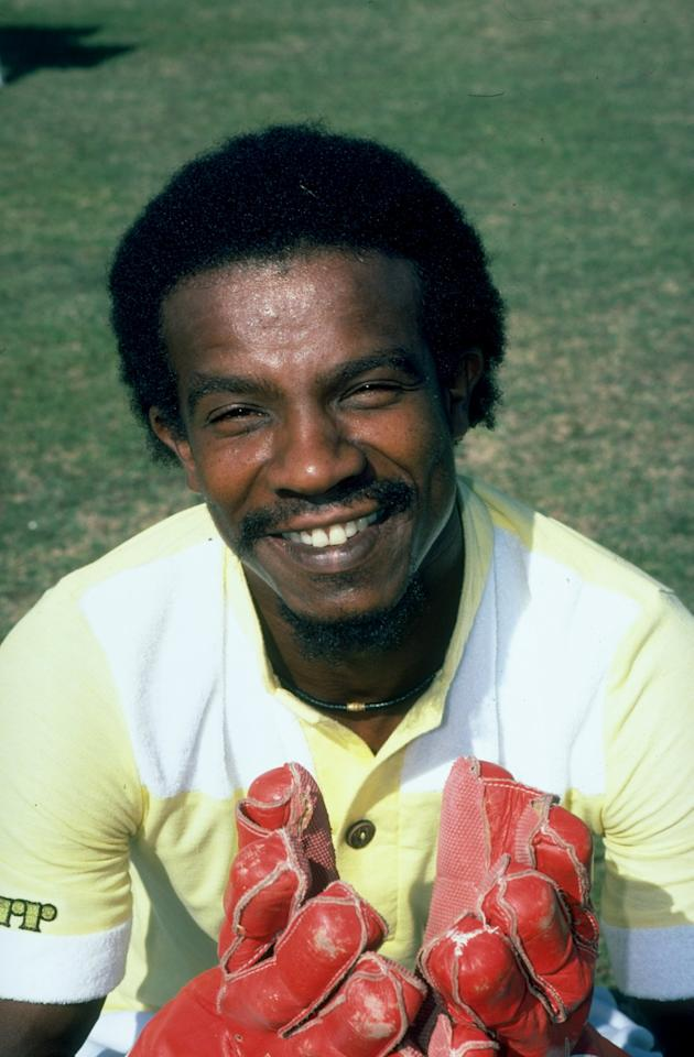 29 Nov 1980:  Portrait of new West Indies wicket keeper David Murray before the First Test match against Pakistan at Gaddafi Stadium in Lahore, Pakistan. The match ended in a draw. \ Mandatory Credit: Adrian  Murrell/Allsport