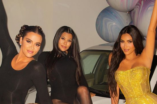 Kim Kardashian with her sisters at her 40th surprise birthday party: Instagram