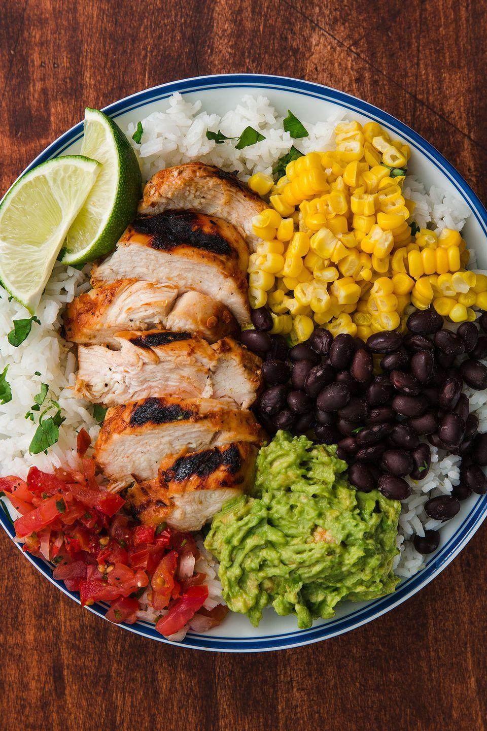 "<p>Guac isn't extra at home.</p><p>Get the recipe from <a href=""https://www.delish.com/cooking/recipe-ideas/a22096112/copycat-chipotle-chicken-recipe/"" rel=""nofollow noopener"" target=""_blank"" data-ylk=""slk:Delish."" class=""link rapid-noclick-resp"">Delish. </a></p>"