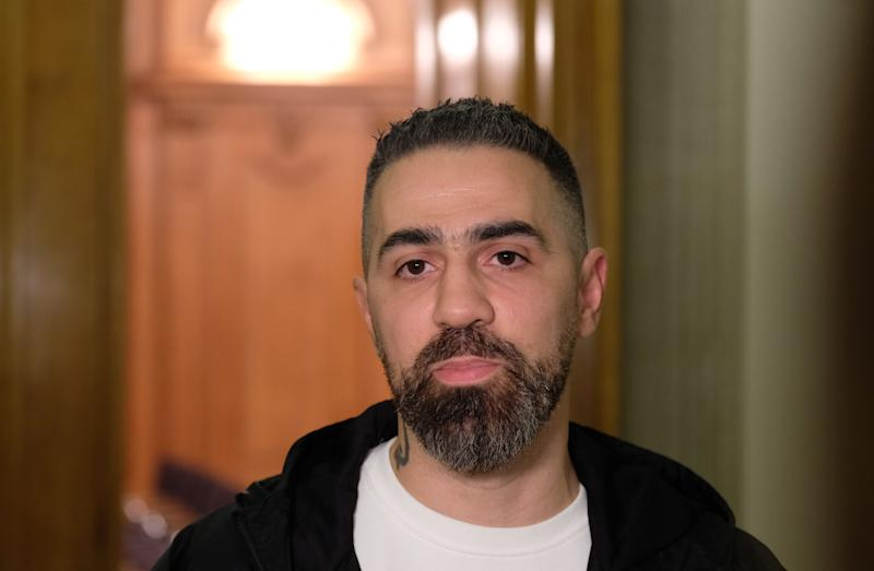 """30 October 2019, Saxony, Leipzig: Bushido, rapper and music producer, in the Federal Administrative Court. His album """"Sonny Black"""" continues to be classified as harmful to young people. Photo: Sebastian Willnow/dpa-Zentralbild/dpa (Photo by Sebastian Willnow/picture alliance via Getty Images)"""