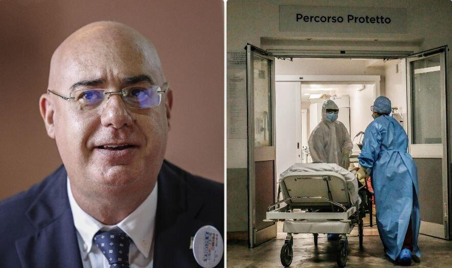 Mario Balzanelli, presidente Sis118 - l'ingresso di un reparto Covid (Photo: AOL.com)
