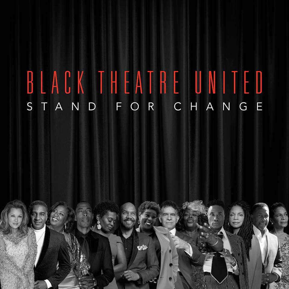 "Black Theatre United (BTU) releases the new song and video, ""Stand for Change,"" in partnership with the Republic Records Action Committee (R2AC). Photo Courtesy: Black Theatre United."